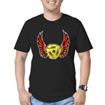 Red Winged 45 RPM Adapter Men's Fitted T-Shirt (dark)