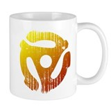 Distressed 45 RPM Adapter Mug