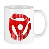 Distressed Red 45 RPM Adapter Mug