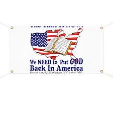 Put God Back in America Banner