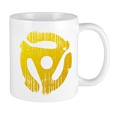 Distressed Yellow 45 RPM Adapter Coffee Mug