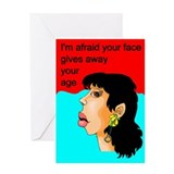 Cute birthday face Greeting Card