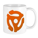 Orange 45 RPM Adapter Mug
