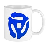 Blue 45 RPM Adapter Mug