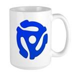 Blue 45 RPM Adapter Large Mug