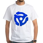 Blue 45 RPM Adapter White T-Shirt
