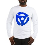 Blue 45 RPM Adapter Long Sleeve T-Shirt