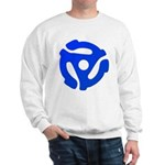Blue 45 RPM Adapter Sweatshirt