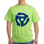 Blue 45 RPM Adapter Green T-Shirt