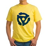 Blue 45 RPM Adapter Yellow T-Shirt