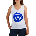 Blue 45 RPM Adapter Women's Tank Top