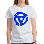 Blue 45 RPM Adapter Women's T-Shirt