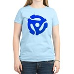 Blue 45 RPM Adapter Women's Light T-Shirt