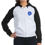 Blue 45 RPM Adapter Women's Raglan Hoodie