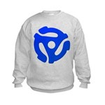 Blue 45 RPM Adapter Kids Sweatshirt