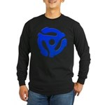 Blue 45 RPM Adapter Long Sleeve Dark T-Shirt