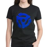 Blue 45 RPM Adapter Women's Dark T-Shirt