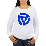 Blue 45 RPM Adapter Women's Long Sleeve T-Shirt