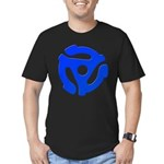 Blue 45 RPM Adapter Men's Fitted T-Shirt (dark)