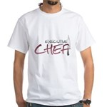 Red Executive Chef White T-Shirt