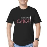 Red Executive Chef Men's Fitted T-Shirt (dark)