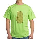 Hand - Stop Sign Green T-Shirt