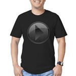 Play Button Men's Fitted T-Shirt (dark)