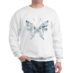 Blue Tribal Butterfly Tattoo Sweatshirt