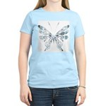 Blue Tribal Butterfly Tattoo Women's Light T-Shirt