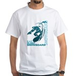 Eat Sleep Snowboard White T-Shirt
