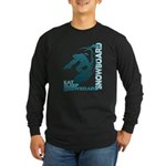 Eat Sleep Snowboard Long Sleeve Dark T-Shirt