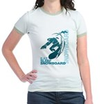 Eat Sleep Snowboard Jr. Ringer T-Shirt