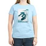 Eat Sleep Snowboard Women's Light T-Shirt