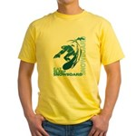 Eat Sleep Snowboard Yellow T-Shirt
