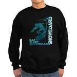 Eat Sleep Snowboard Dark Sweatshirt (dark)
