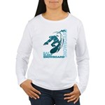 Eat Sleep Snowboard Women's Long Sleeve T-Shirt