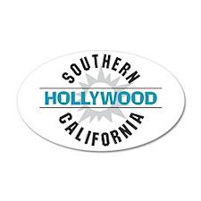 Hollywood California 38.5 x 24.5 Oval Wall Peel
