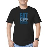 EAT SLEEP SOCCER Men's Fitted T-Shirt (dark)