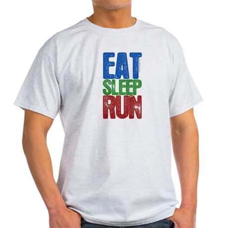 EAT SLEEP RUN Light T-Shirt