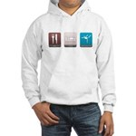 Eat, Sleep, Gymnastics Hooded Sweatshirt