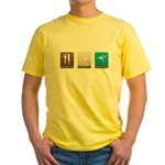 Eat, Sleep, Gymnastics Yellow T-Shirt