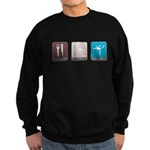 Eat, Sleep, Gymnastics Dark Sweatshirt (dark)