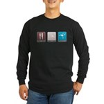 Eat, Sleep, Gymnastics Long Sleeve Dark T-Shirt