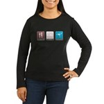 Eat, Sleep, Gymnastics Women's Long Sleeve Dark T-Shirt