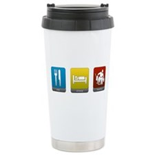 Eat, Sleep, Hockey Ceramic Travel Mug