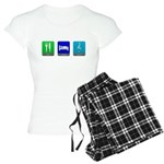 Eat, Sleep, Music Women's Light Pajamas
