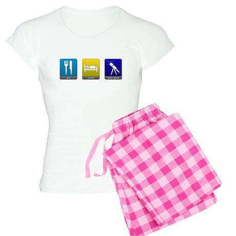 Eat, Sleep, Stargaze Women's Light Pajamas