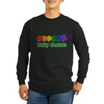 Rainbow Shamrock Lucky Charms Long Sleeve Dark T-Shirt