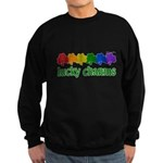 Rainbow Shamrock Lucky Charms Dark Sweatshirt (dark)