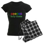 Rainbow Shamrock Lucky Charms Women's Dark Pajamas